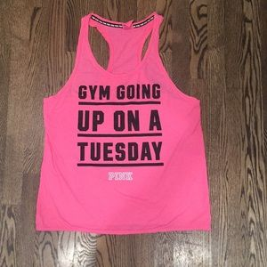 Pink Gym Going Up On Tuesday Tank size large